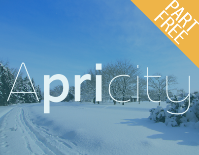 Apricity – The Early Spring Font