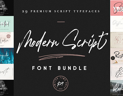 THE MODERN SCRIPT FONT BUNDLE - LIMITED TIME ONLY