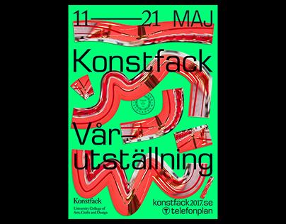Konstfack Spring Exhibition – Visual Identity