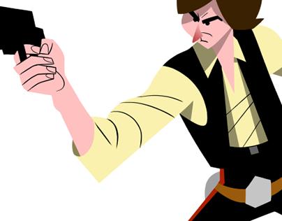 Han Solo Classic pose