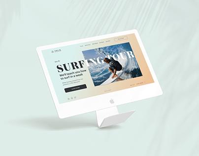 Landing page / Surfing tour in Bali