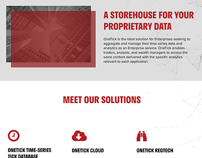 Onetick Landing Page
