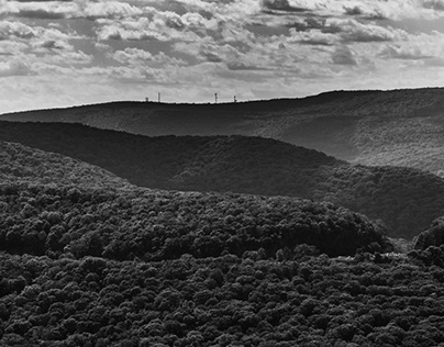 Hudson Highlands in Black and White