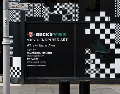 Beck's Music Inspired Art Pub Takeover