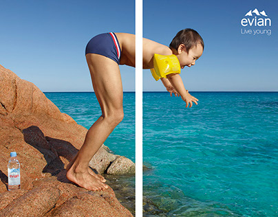 Evian Campaign LIVE YOUNG + Behind the scene
