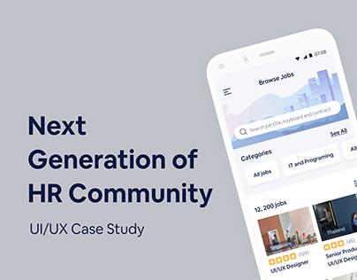 Human Resource Community - UI/UX Case Study