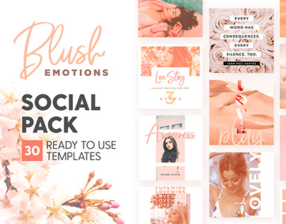 Blush Emotions - Social Pack