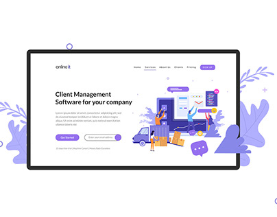Software Promoting Website | Landing Page