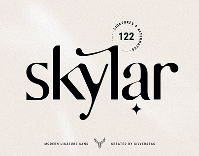 skylar - modern ligature sans font