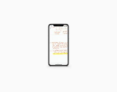 Conceptual UI/UX for Moleskin mobile app