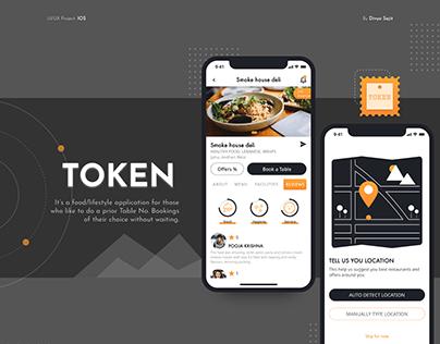 Token- IOS design (table no. booking app)