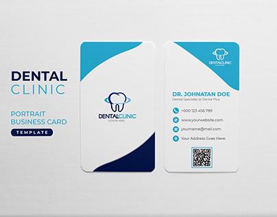 Portrait Dental Clinic Business Card