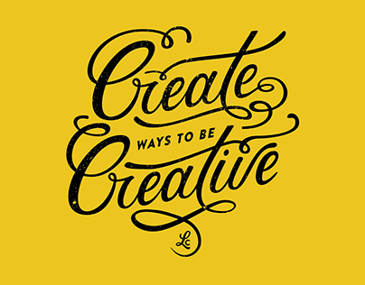Create ways to be Creative