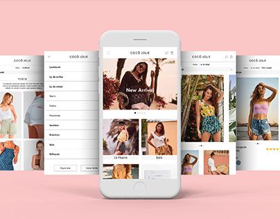 Diseño de web e-commerce para Cocó Jolie / 2018-1
