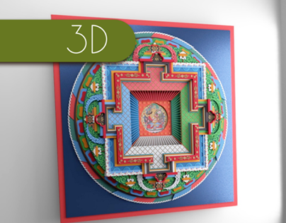 Animated Tibetan Mandala (Blender/Cycles)