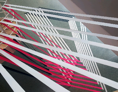 Tape art interior design
