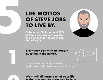5 life mottos of Steve Jobs to live by - Infographic.