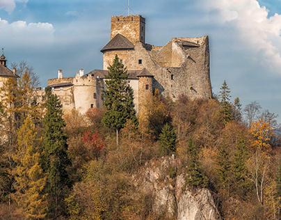 Niedzica Castle also known as Dunajec Castle (Poland).