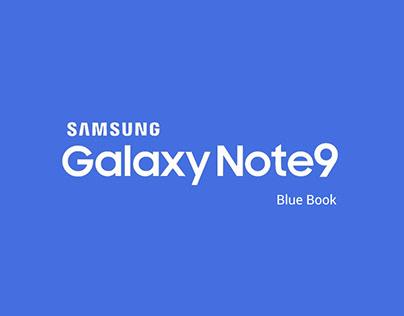 Samsung Galaxy Note 9 Blue Book - Booklet Design