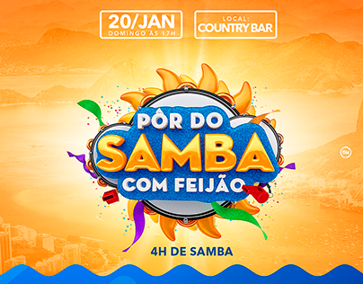 PÔR DO SAMBA COM FEIJÃO- EVENTO