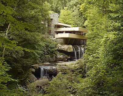 La casa de la cascada es un modelo perfecto