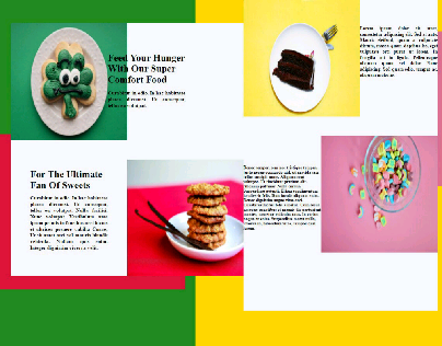 landing page of sweets cafe