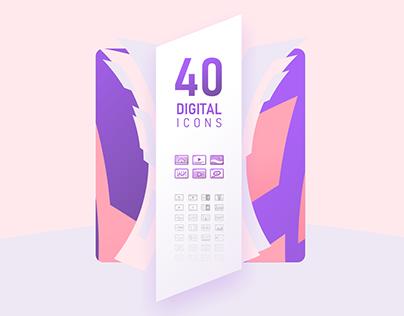 40 Free Digital Icons