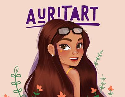 Auritart Girl Illustration