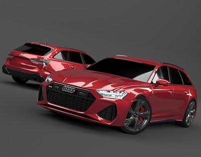Audi RS6 V-Ray Final Render