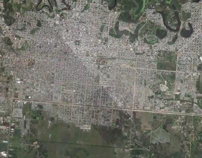 Satelite zoom in