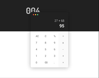 Daily UI #004 - Calculator