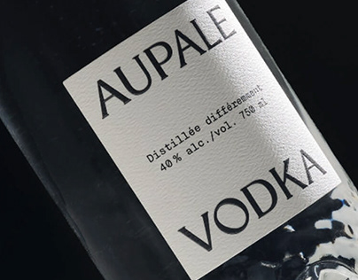 Aupale Vodka - Custom Bottle & Brand Design