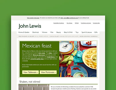 Responsive email campaign
