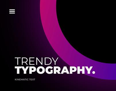 Kinematic Typography Showreel