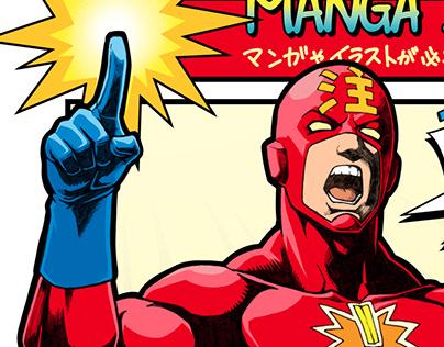 COMIC-STYLE HERO ILLUSTRATION