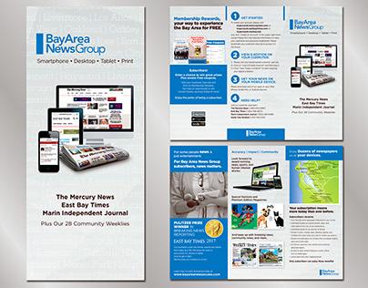 Subscription tri-fold brochure