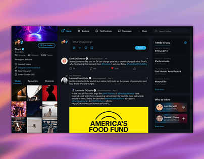 Twitter redesign project.