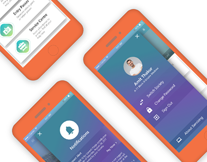 Servizing - Home Screen Redesign