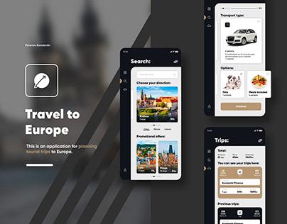 Mobile application Travel Trip ui/ux