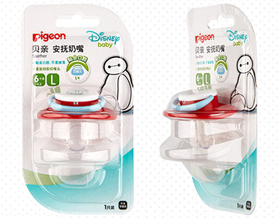 Pigeon X Disney baby soother pattern & packaging