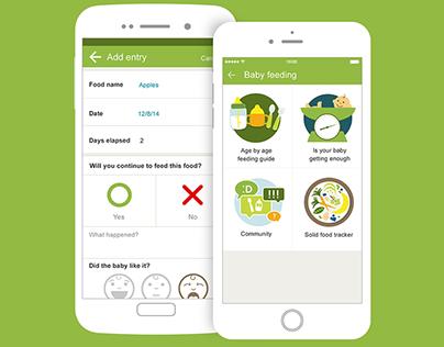 BabyCenter app - Feeding Guide Tool