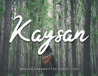 Kaysan Signature - Free Font