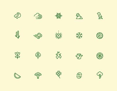 100 Nature Icons | BLC Studio