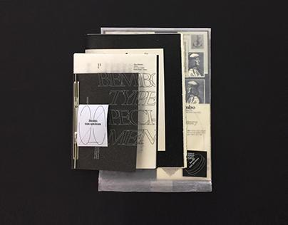 [ Typography / Editorial Design ] Bembo Typespecimen
