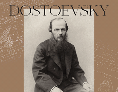 Landing page concept of F.M. Dostoevsky's biography