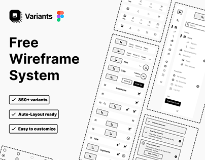 Free wireframe system - Variants