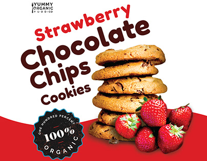 Strawberry chocolate chips cookies pack.