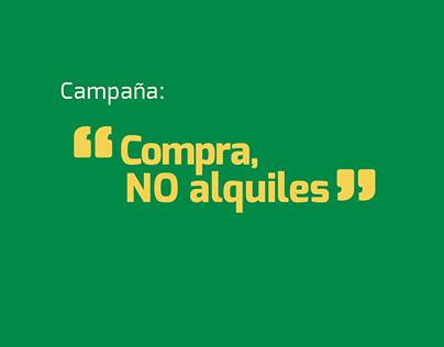 "Constructora Bolívar - Campaña ""Compra, no alquiles""."