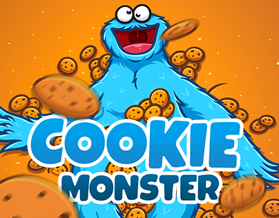 COOKIE MONSTER. Telegram Stickers — 2019