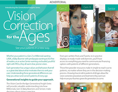 Vision Correction for the Ages Advertorial Series